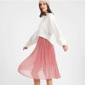 Banana Republic Pleated Midi Skirt Size M